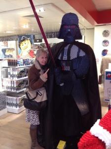 Alison and Darth Vader, Christmas 2013
