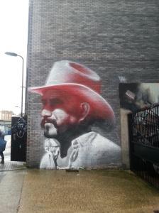 El Mac: Lemmy from Motorhead  in Pink Stetson. East End Street Art
